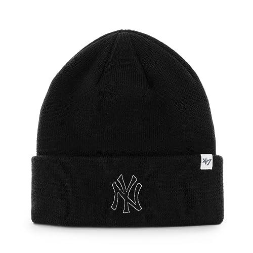e119782f6a6  47 Brand Cuffed Beanie Hat - MLB Raised Cuff Knit Cap.