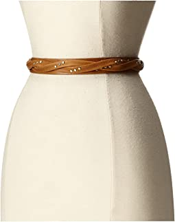 Skinny Wrap Belt with Rivets