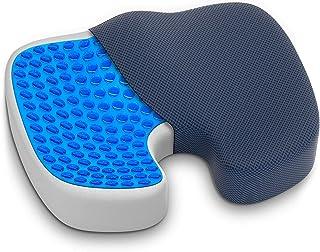 Cojín de asiento de espuma viscoelástica, cojín para asiento de coche, cojín para ciática, cojín para el coxis, asiento de hemorroides, cojín para el dolor y la cadera