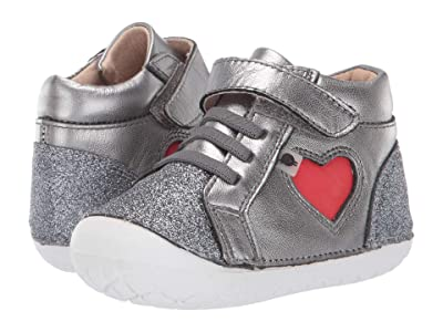 Old Soles My-Heart Pave (Infant/Toddler) (Glam Gunmetal/Bright Red) Girl