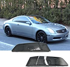 Helix JDM Front Bumper Side Markers For 03-07 Infiniti G35 2DR Coupe Smoke