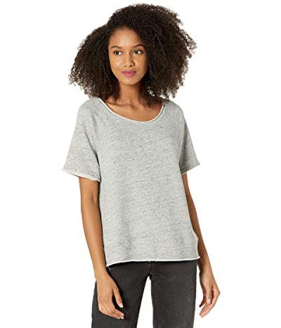 Chaser Linen French Terry Raw Edge Raglan Pullover