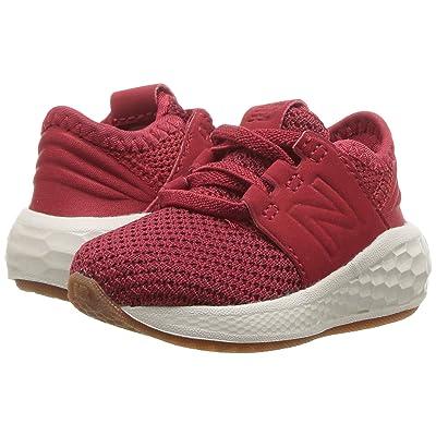 New Balance Kids KVCRZv2I Nubuck (Infant/Toddler) (Mercury Red/Chilli Pepper) Boys Shoes