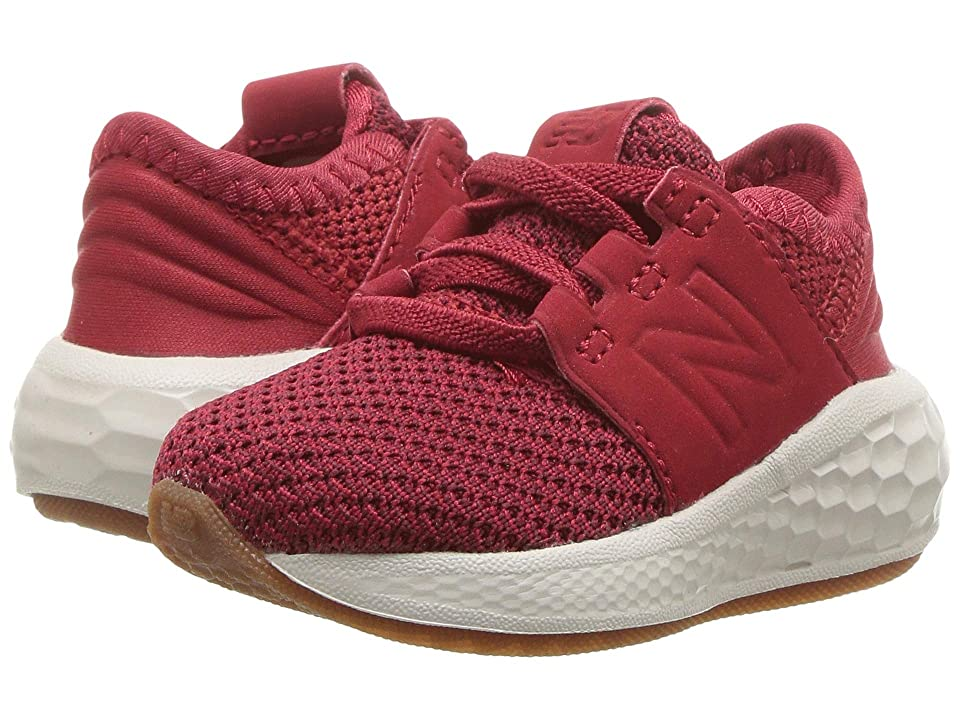 New Balance Kids KVCRZv2I Nubuck (Infant/Toddler) (Mercury Red/Chilli Pepper) Boys Shoes