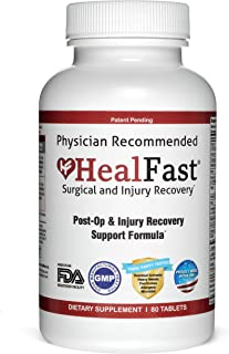 HealFast Surgery & Injury Recovery Supplement (Post-Op): Supports Wound Healing, Pain Relief, Scar Treatment & Bruising w/...
