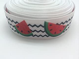 PEPPERLONELY Brand 10 Yards 22mm (7/8 Inch) Watermelon Grosgrain Ribbon