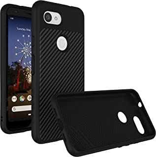 RhinoShield Case for Google Pixel 3a [SolidSuit] | Shock Absorbent Slim Design Protective Cover with Premium Matte Finish [3.5M/11ft Drop Protection] - Carbon Fiber Texture