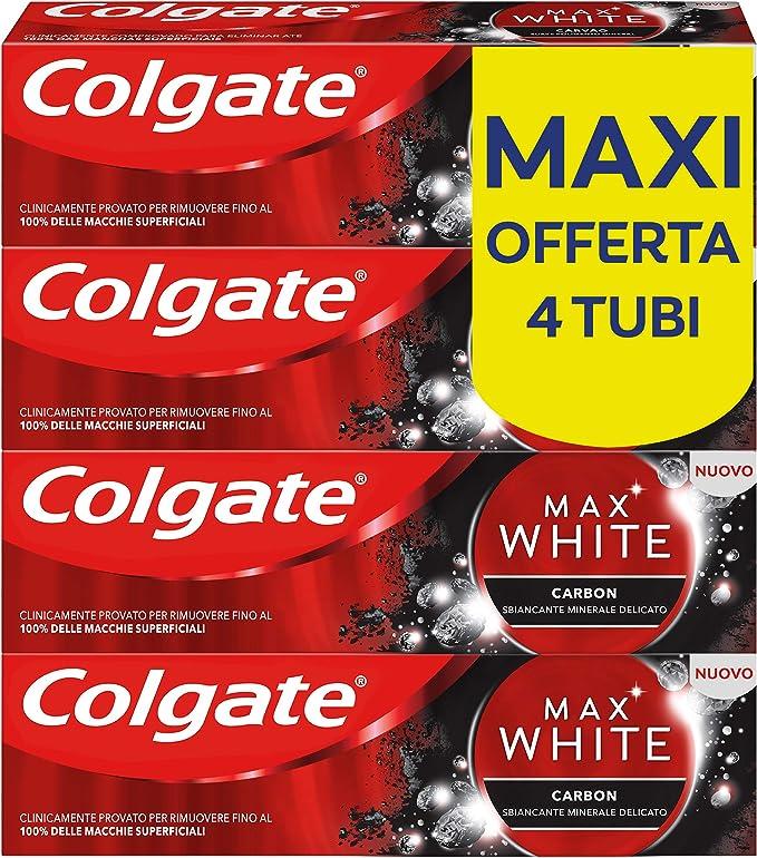 287 opinioni per Colgate Dentifricio Sbiancante Max White Carbon, Dentifricio Minerale Delicato