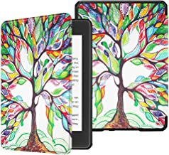 Fintie Slimshell Case for All-New Kindle Paperwhite (10th Generation, 2018 Release) - Premium Lightweight PU Leather Cover with Auto Sleep/Wake for Amazon Kindle Paperwhite E-Reader, Love Tree