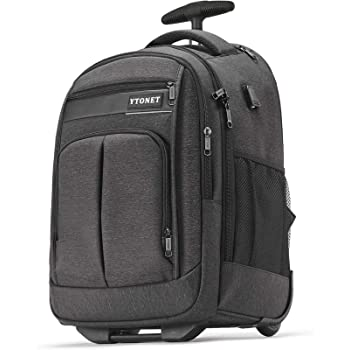 Rolling Backpack, Large Laptop Backpack Business Travel Wheeled Backpack for Men