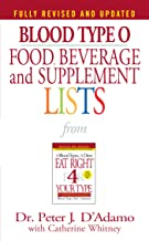 Download Blood Type O Food, Beverage and Supplement Lists (Eat Right 4 Your Type) PDF