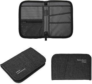 BAGSMART パスポートケース スキミング防止 トラベルウォレット 貴重品入れ 海外旅行 多機能収納ポケット トラベルポーチ セキュリティケース クレジットカード 航空券