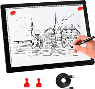 A4 Light Board,Portable Tracing Light Pad,Magnetic Drawing Board, Light Drawing..