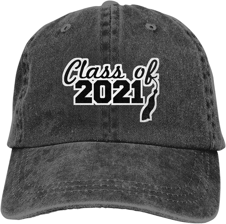 Class of 2021 Hats for Men,100% Cotton Ball Hat Adult Baseball Cap Classic Unisex Cowboy Hat Black