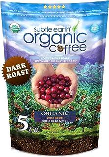 5LB Subtle Earth Organic Coffee - Dark Roast - Whole Bean Coffee - Organic Arabica Coffee - 5 lb bag