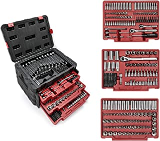 WORKPRO 450-Piece Mechanics Tool Set, Universal Professional Tool Kit with Heavy Duty Case Box