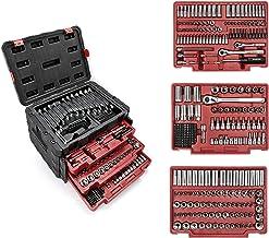 مجموعه ابزار مکانیکی WORKPRO 450 قطعه ، کیت ابزار حرفه ای جهانی با جعبه مورد سنگین