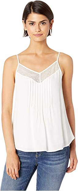 Sheer Stripe Lace Inset Cami