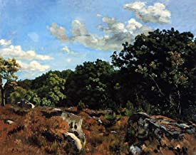 Jean Frederic Bazille Landscape at Chailly 1865 Art Institute of Chicago 30
