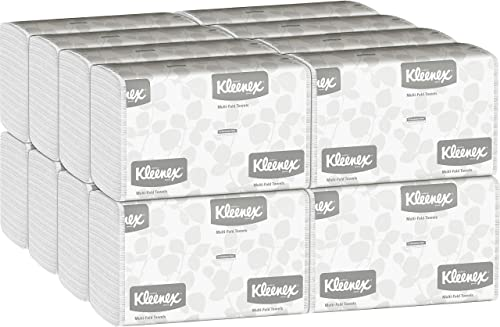 Kleenex Multifold Paper Towels (01890), White, 16 Packs/Case, 150 Tri Fold Paper Towels/Pack, 2,400 Towels/Case