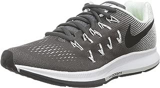 Nike Women's Air Zoom Pegasus 33 Running Shoe Dark Grey/White/Black 831356-002 (10)