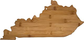 Totally Bamboo 20-7958KY Kentucky State Shaped Bamboo Serving & Cutting Board