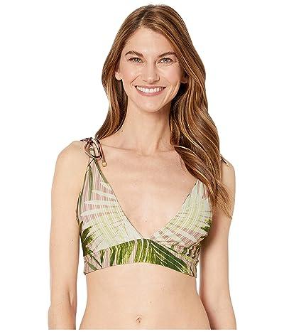 Vince Camuto Tropical Palm Four-Way Reversible Convertible Bikini Top (Fern) Women