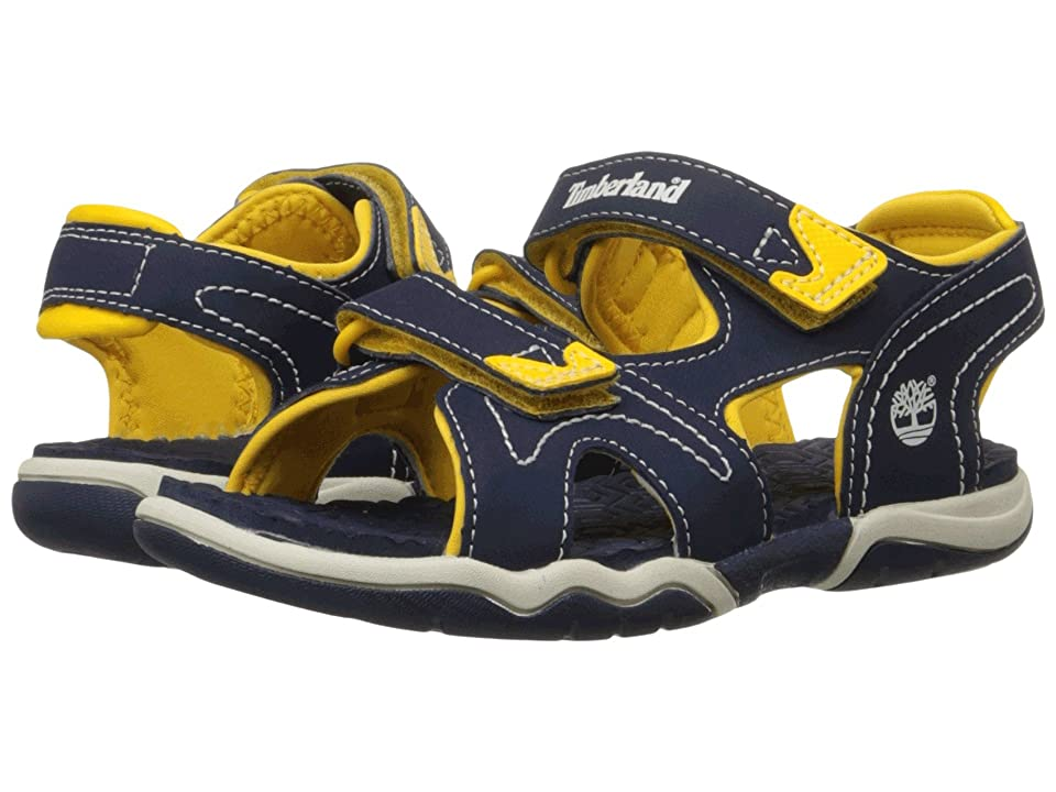 Timberland Kids Adventure Seeker 2 Strap Sandal (Big Kid) (Navy/Yellow) Kids Shoes