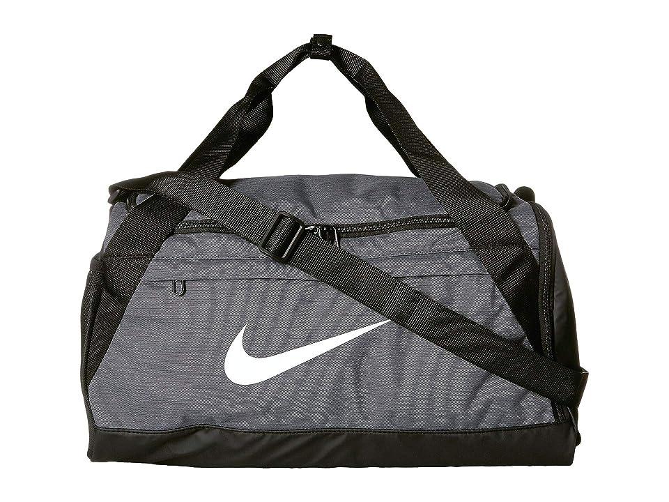 Nike Brasilia Small Training Duffel Bag (Flint Grey Black White) Duffel Bags ac45f364e62db
