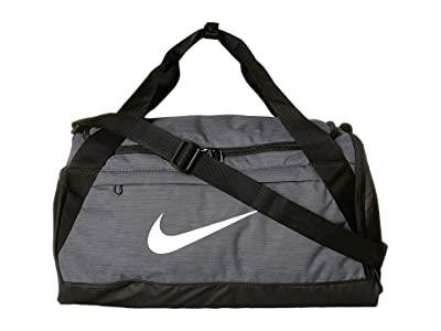 Nike Brasilia Small Training Duffel Bag (Flint Grey/Black/White) Duffel Bags