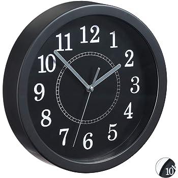 Kela 17162 horloge murale diam/ètre 20 cm coloris noir Berlin