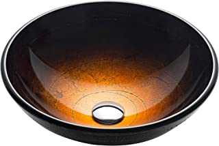 Kraus GV-580 Copper Illusion Glass Vessel Bathroom Sink