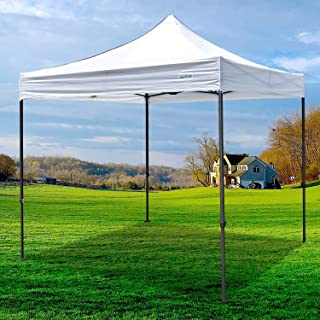 Galsoar Pop Up Canopy 10x10 Commercial Gazebos, Ez Up Canopy Tent Instant Shelter with Roller Bag Bonus 4 Weight Bags, Suitable for Party, Picnics, Market Stall, White