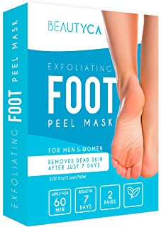 Exfoliating Foot Peel Mask - Baby Foot Peel 2 Pairs - Natural Foot Exfoliator - Exfoliating Callus Remover - Foot Peel Mask Exfoliant for Soft Feet in 1-2 Weeks