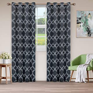 Superior Bohemian Trellis Quality Soft, Insulated, Thermal, Woven Blackout Grommet Printed Curtain Panel Pair (Set Of 2) 5...