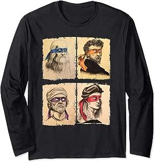 Renaissance Ninja Artists Poster Style Pop Art Long Sleeve T-Shirt