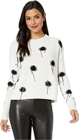 Domino Effect Polka Dot Sweater