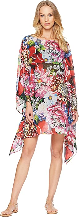 Beach Poncho Printed Georgette Cover-Up