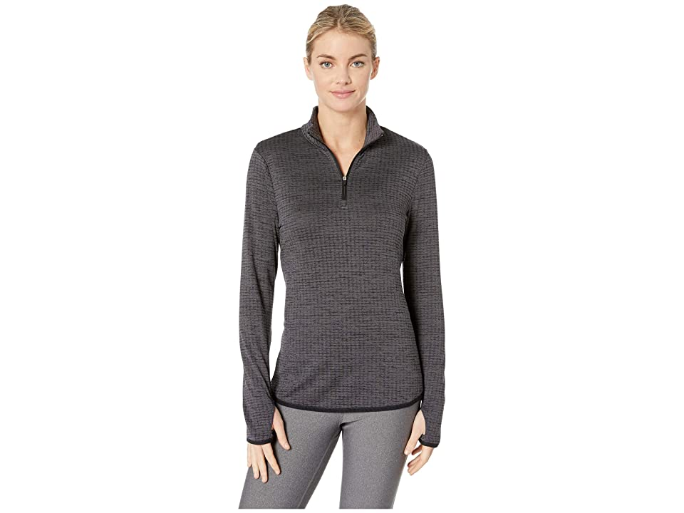 Jockey Active Circle Back 1/4 Zip Top (Black) Women