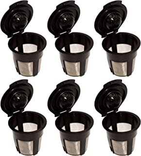 Blendin 6 x Single Reusable Refillable Coffee Pod Filters, Compatible with Keurig 1.0 K Cup Coffee Makers