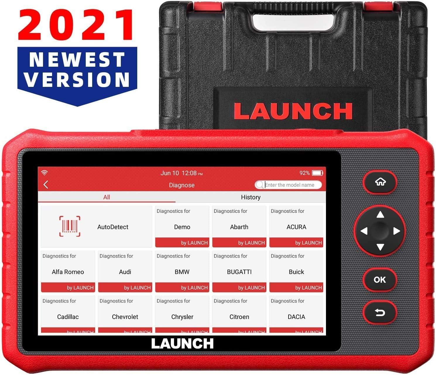 LAUNCH CRP909X Code Reader Interfaz Diagnosis Android 7.1 Escáner OBD2 15 Funciones de Servicio Sistemas Completos y Pantalla Touch de 7.0 Pulgadas Actualizaciones por Wi-Fi 1 Año [ 2020 Nuevo ]