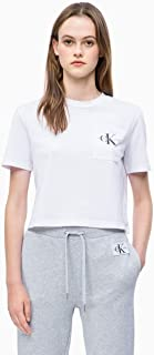 Calvin Klein Jeans Women's Monogram Off Placement Cropped Tee