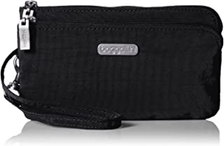 Double Zip Wristlet with RFID Protection – Lightweight Wristlet with Zipped Compartments for Smart Phones and More