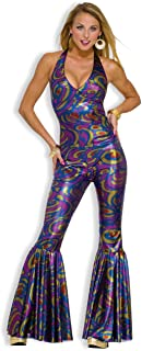 Women's Funky Dancing Fox 70's Disco Costume, Multicolor