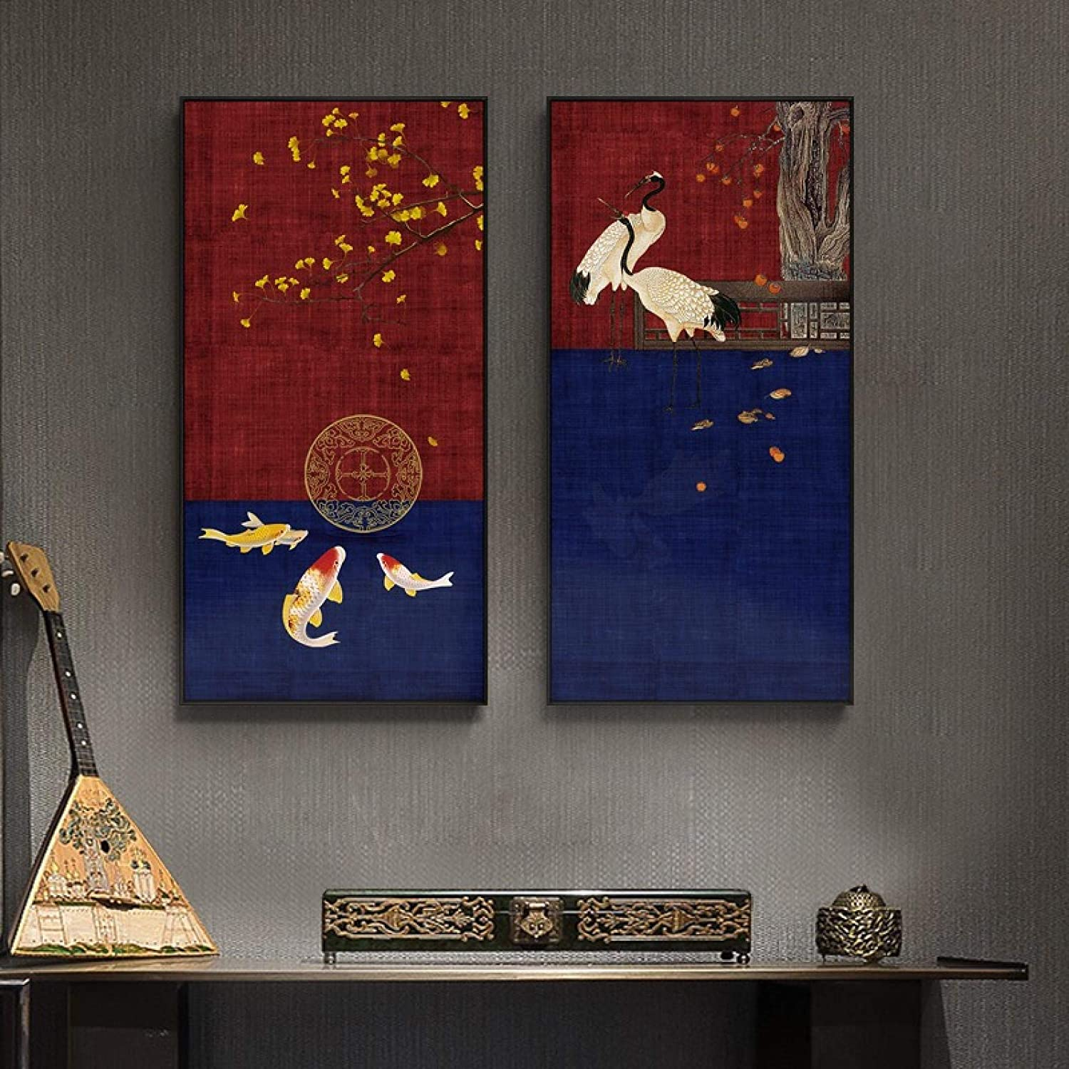 Dedication Canvas Painting New Chinese Carp Art Prints And Super Special SALE held W Posters Modern