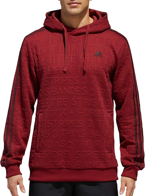 adidas Men's Athletics Badge of Sale price Sport Cotton Stripe Pul 35% OFF 3 Fleece