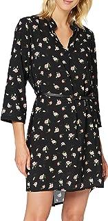 Frenchcool Robe Noir à Fleur Taille Unique Vestido de Fiesta Informal, Talla única para Mujer
