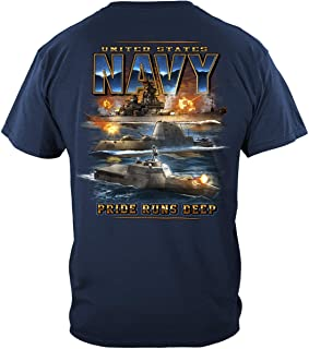 Erazor Bits US Navy Pride Runs DEEP T Shirt MM2350