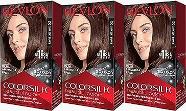 Revlon Colorsilk Beautiful Color, Dark Soft Brown, 3 Count