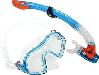 Schildkroet-Funsports Unisex Adult Turtle Barbados Two Part Snorkel Set - Multi-Colour, Small